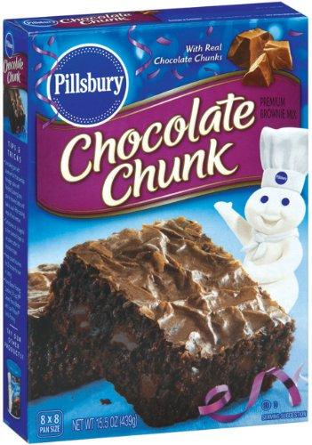 Pillsbury Chocolate Chunk Brownie Mix, 15.5 Ounce