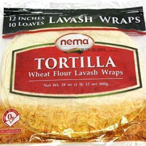 Nema Turkish style Tortilla - Lavash Wraps (Halal) 10 inshes 10 wraps