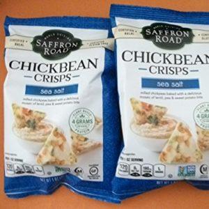 Saffron Road Chickbean Crisps Sea Salt Lot of 2 Single Serve 1 oz each bags