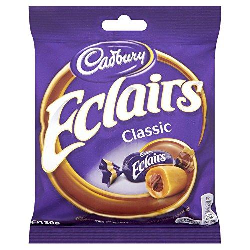 Cadburys Chocolate Eclair Bag - 130g - Pack of 6 (130g x 6 Bags)
