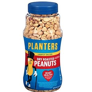 Planters Peanuts, Dry Roasted & Lightly Salted, 16 Ounce Jar (Pack of 4)
