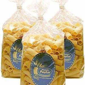 Maestri Pastai, Rigatoni Pasta (Pack of 3), Imported from Mercato San Severino, Italy, 17.66 oz (each)