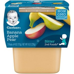 Gerber 2nd Foods Bananas with Apples & Pears, 4 Ounce Tubs, 2 Count (Pack of 8)