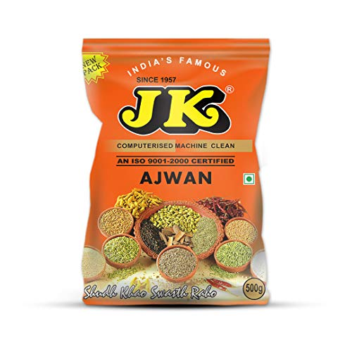 JK CAROM SEED 17.64 Oz, 500g (Ajwain Whole - Ayurvedic Superfood) Non-GMO, Gluten free and NO preservatives!