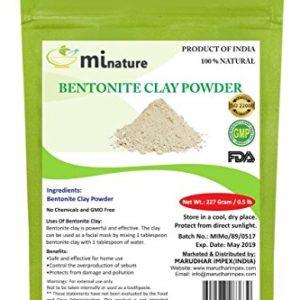 mi nature Fuller's Earth - Natural Multani Mitti Powder (HEALING CLAY) (BENTONITE CLAY) (100% NATURAL & PURE) For Skin Mask & Hair Mask