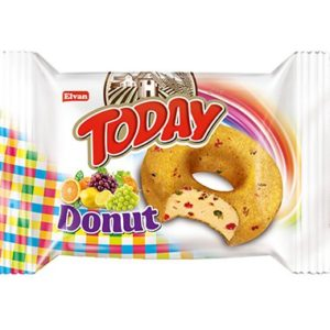 Today Turkish Donut, No Artiificial Color, Halal, 24 pieces (Fruit Cake)