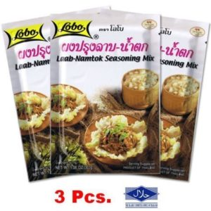 Lobo Laab-namtok Seasoning Mix 30g. Thai Food. X3 Pcs. Save !! + Halal by Lobo