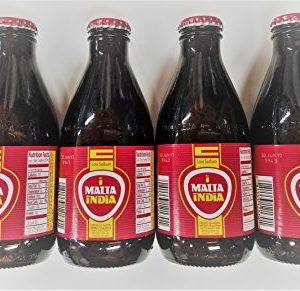 Malta India Non Alcoholic Malt Beverage Drink 7 Oz Bottles (4 Pack) 28 Total Ounces 4 Pk