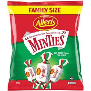 Allen's Minties 370g Family Size (Made in Australia)