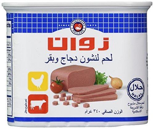 Zwan Luncheon Halal Meat, Chicken/Beef, 12 Ounce by Zwan