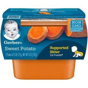 Gerber 1st Foods Sweet Potatoes, 2.5 oz Tubs, 2 Count (Pack of 8)