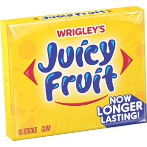 Juicy Fruit Gum,20 STICK PACKAGES (120 STICKS TOTAL)