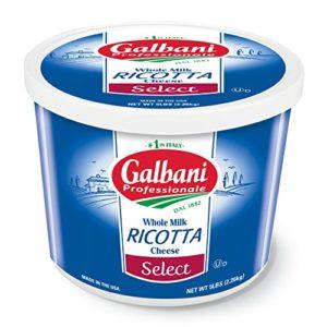 Galbani Whole Milk Select Ricotta Cheese 5 lb, Pack of 4