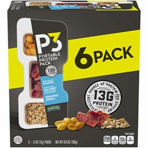 Planters P3 Peanuts, Ham Jerky & Sunflower Kernels Protein Pack (1.8 oz Trays, Pack of 6)
