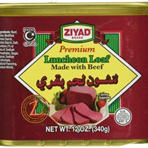 Ziyad Luncheon Halal Loaf Meat, Beef, 12 Ounce