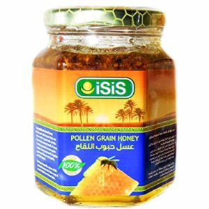 Isis Pollen Grain Honey Bee 100% Pure Raw Natural Organic Halal عسل حبوب اللقاح (weight: 1Pack (12oz=350gm))