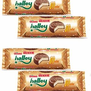Ulker Halley Chocolate Covered Biscuit filled with Marshmallow Halal 4PK