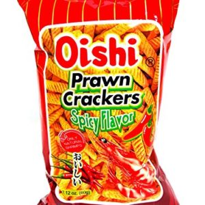 Oishi Prawn Crackers Spicy Flavor 2.12oz Pack of 4