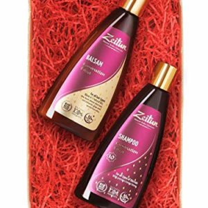 Zeitun Sulfate Free Shampoo and Conditioner Gift Set - Natural Thickening Shampoo and Balm - Thinning Hair Products Kit - Laminating effect 2 x 8.4 oz