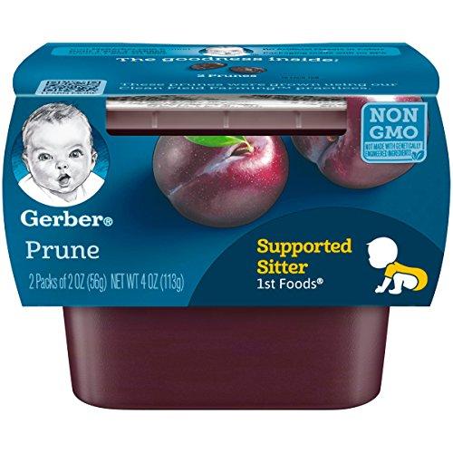 Gerber Purees 1st Foods Prune Baby Food Tubs ,(Pack of 8),2 count 2 oz tubs.