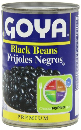 Goya Black Beans - Frijoles Negros 15.5 Oz Pack of 6