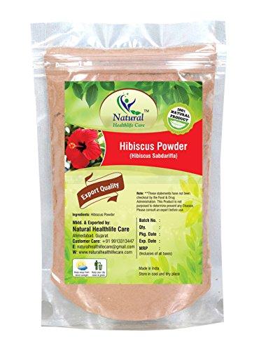 Natural Healthlife Care Hibiscus Powder(SABDARIFFA)/100% Pure, Natural For Hair,Skin (100 gm (0.22 lb) 3.5 ounces)