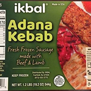 IKBAL ADANA KEBAB (8 Pieces/pack) Halal 1.2lb