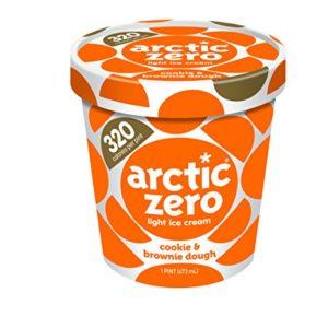 Pack of 6, Arctic Zero Light Ice Cream, Cookie & Brownie Dough Pint