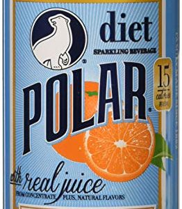 Polar Beverages Dry Juice, Orange, 12 Fluid Ounce (Pack of 12)