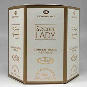Secret Lady - 6ml (.2oz) Roll-on Perfume Oil by Al-Rehab (Crown Perfumes) (Box of 6)