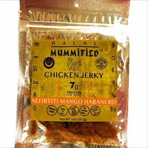 Mummified Halal Chicken Jerky (Nifirtiti Mango Habanero, 5 x 1oz packs)