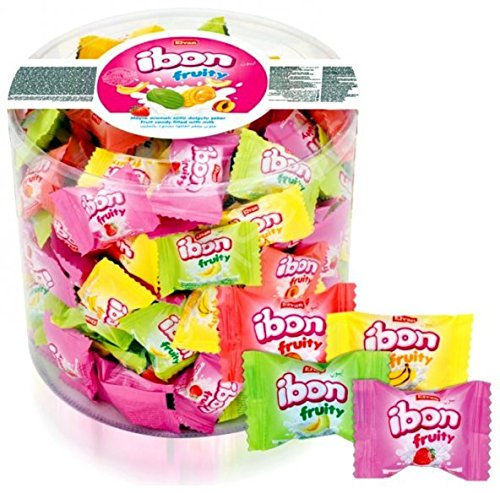 Elvan ibon fruity, Fruit candy filled with milk, Halal, 800 gr
