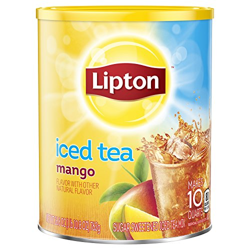 Lipton Iced Tea Mix, Mango Sweetened, 10 qt Pack of 6