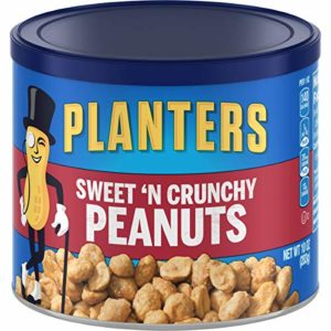 Planters Sweet N Crunchy Peanuts (10 oz Canisters, Pack of 6)