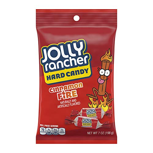 JOLLY RANCHER Hard Candy, Cinnamon Fire, 7 Ounce (Pack of 12)