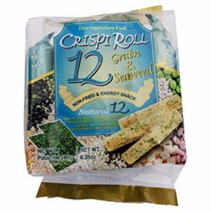 Crispi Roll 12 Grain & Seaweed Non-Fried & Energy Snack 1 Pack