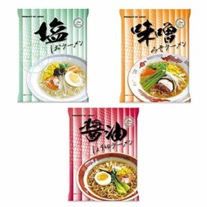 Certified Halal Non-fried Instant Ramen Noodle 3 types(salt / miso / soysauce)
