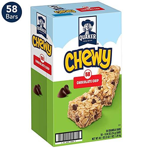 Quaker Chewy Granola Bars, Chocolate Chip (58 Bars)