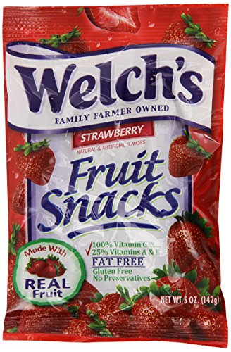 Welchs Strawberry Fruit Snacks, 5-Ounce (Pack of 12)