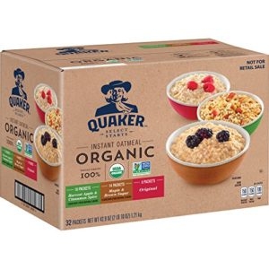 3 Flavor Organic Instant Quaker Oats Variety Pack (32 ct)