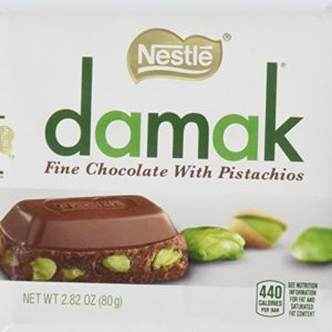 Nestle Damak Milk Chocolate with Pistachio 3 80g Bar Pack - Halal - Made in Turkey