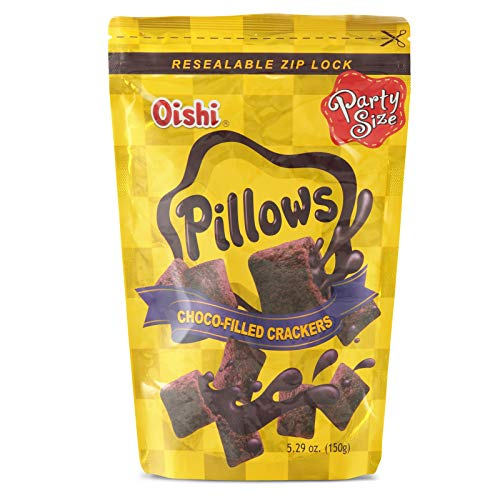 Oishi Pilows Choco-Filled Crackers Party Size, 5.29 oz, 2 packs