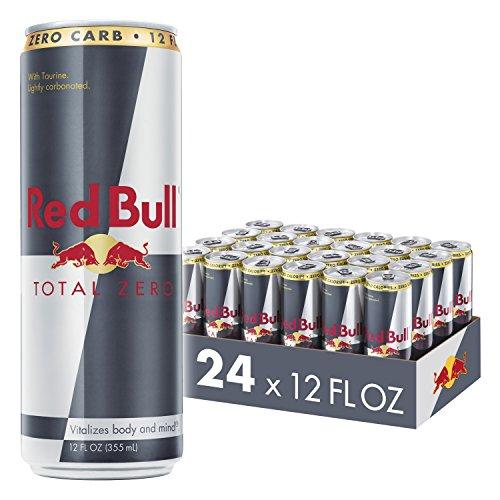 Red Bull Energy Drink, Total Zero, 24 Pack of 12 Fl Oz