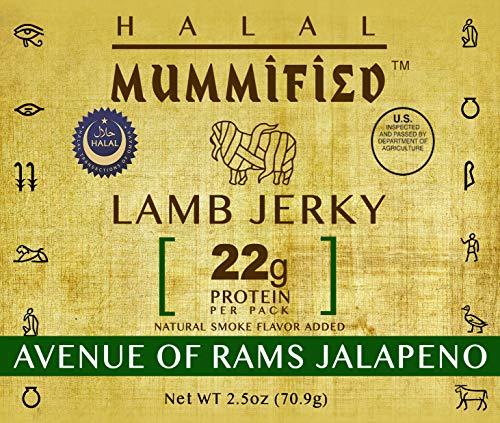 Halal Lamb Jerky - Avenue of Rams Jalapeno 2.5 oz (Pack of 2)