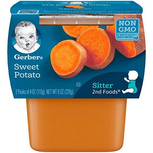 Gerber 2nd Foods Sweet Potatoes, 4 Ounce, Pack of 2