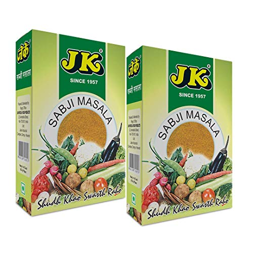JK CURRY POWDER 3.53 Oz, 100g (50g x 2 Packs) (Mild Natural Spice Blend, Balti Curry Seasoning, Vindaloo Curry, Sabji Masala, Vegetable Spice Mix, Vegetable stew spice mix)