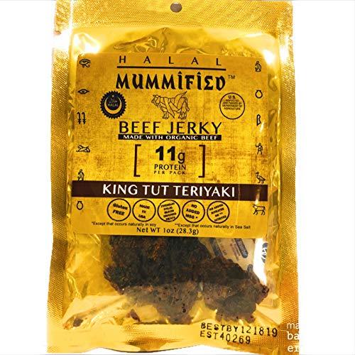Mummified Halal Organic Beef Jerky (King Tut Teriyaki 4 x 1oz packs)
