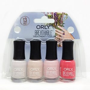 Orly Breathable Treatment Plus 061017X Color 4 Piece Mini Kit for Women