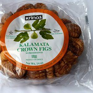 Krinos Kalamata Crown Figs - Pack of 2 - 14 Oz - Halal- Naturally Sun Dried - No Preservatives!