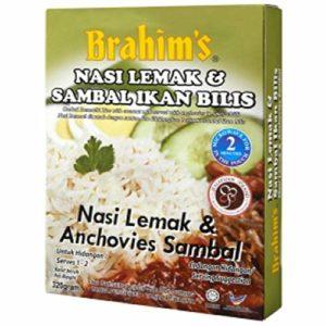 Brahims Nasi Lemak & Anchovies Sambal ready to eat from Malaysia, Halal